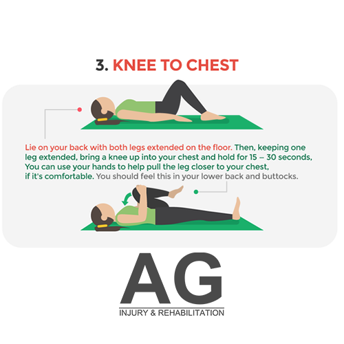 3. Knee to chest stretch