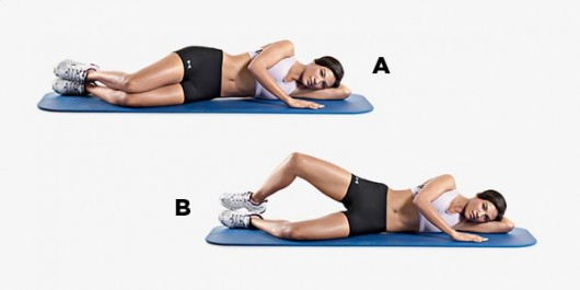 Clam shell exercise