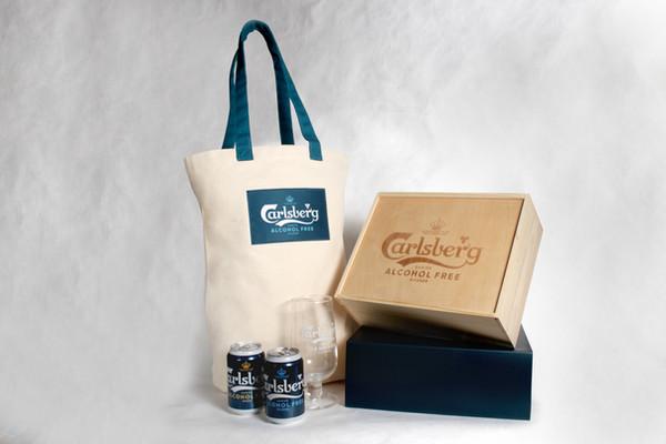 Wooden Box and Tote Bag Set