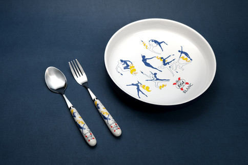 Plate and Utensils Set