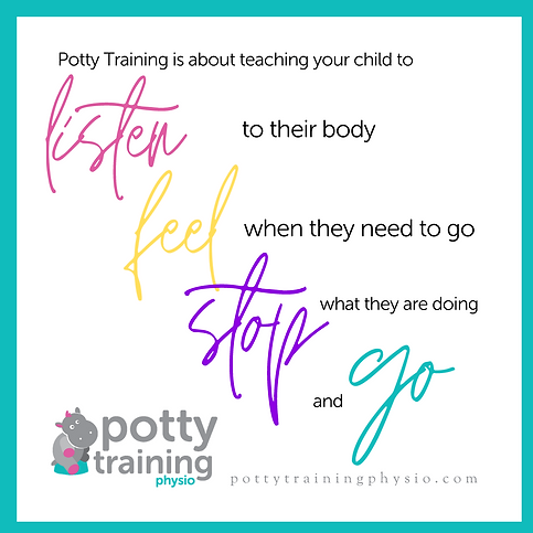 Potty Training is about teaching your ch