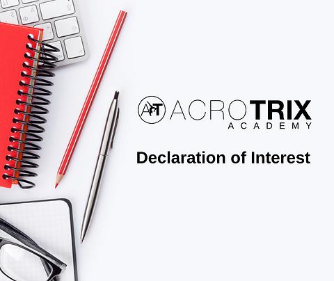 Declaration Of Interest - Acrotrix Academies