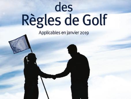 Les nouvelles règles de golf 2019