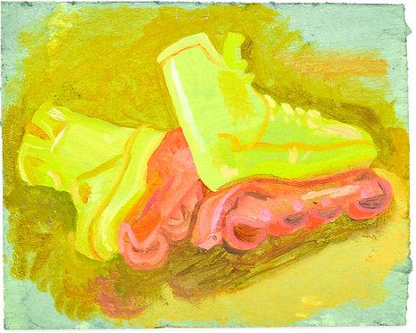 Retro Yellow Skates