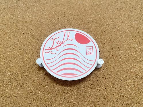 3x3 Apparel sticker White & Red
