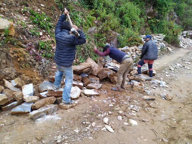 Taille des pierres pour la construction