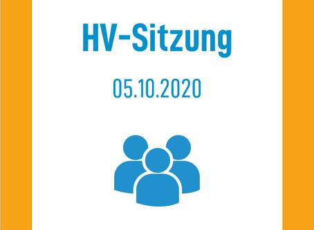 HV Sitzung am 05.10.2020