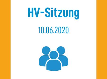 HV Sitzung am 10.06.2020