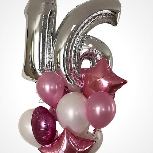 Helium Numbers Balloon Bouquet