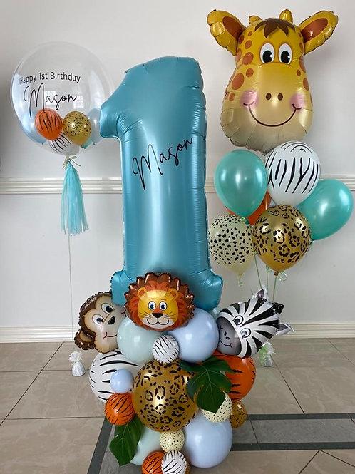 Jungle Balloon Kit with Extra Animal balloon bouquet