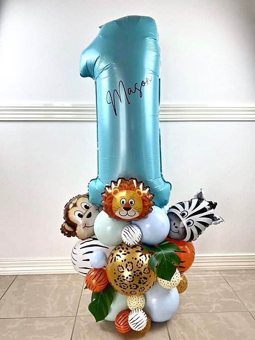 Jungle Birthday Balloon Sculpture