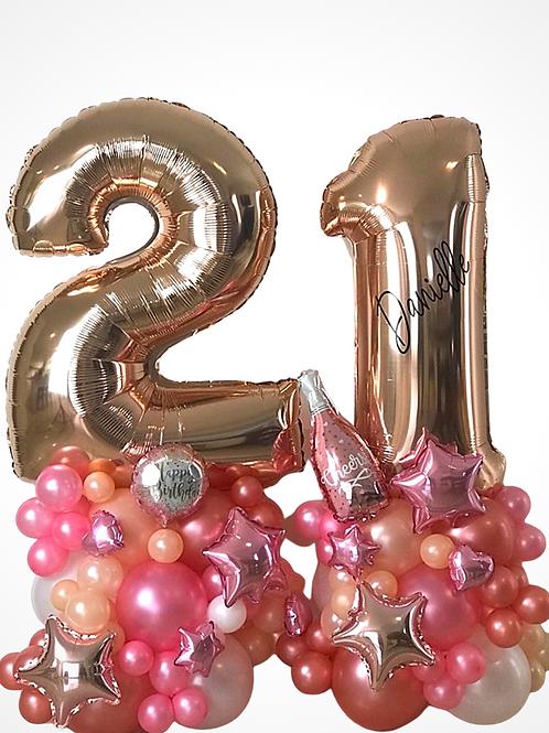 21st Birthday Balloon Sculpture