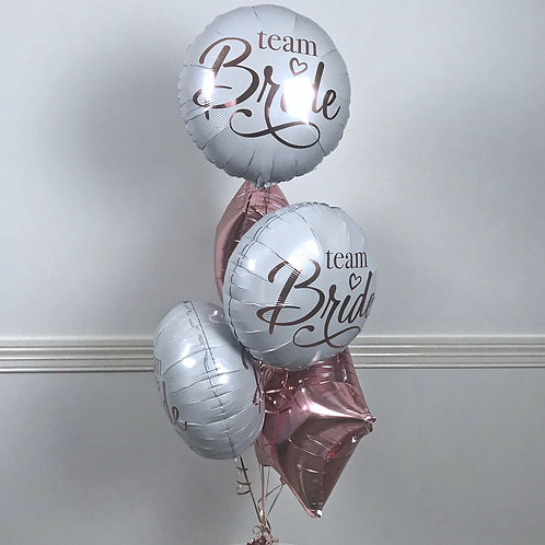 Team Bride Foil Helium Balloons