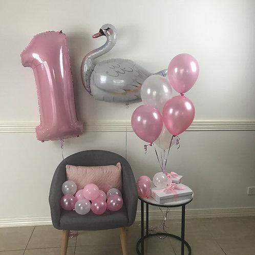 Swan Birthday Balloon Kit