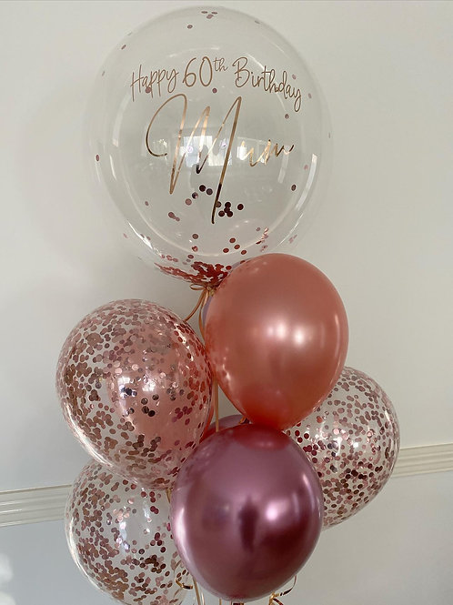 Personalised Birthday Balloon Cluster