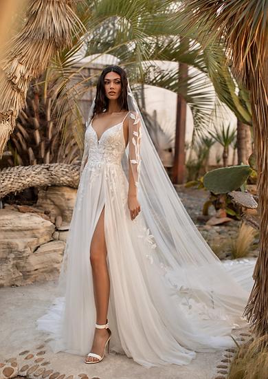 Vestido bohemian stylesuper delicado e romântico, do jeitinho que as noivas amam, com saia bem fluida