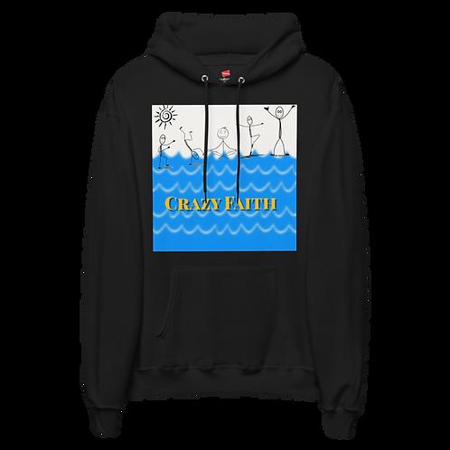 """Crazy Faith"" fleece hoodie"