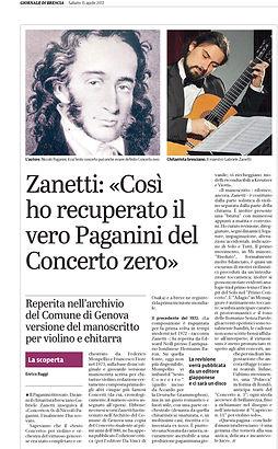 Paganini Concerto 6 violin guitar Gabriele Zanetti