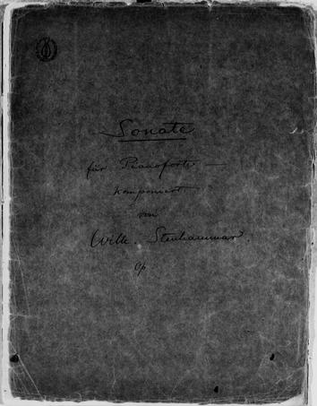 Wilhelm Stenhammar Piano Sonata 4
