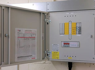 Commercial 3 phase electrical distribution board