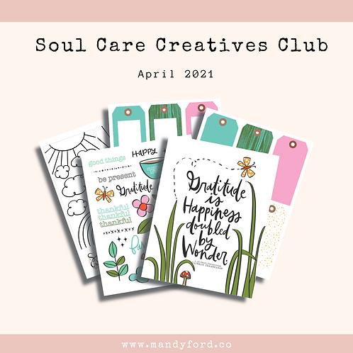April 2021 Soul Care Creatives Club