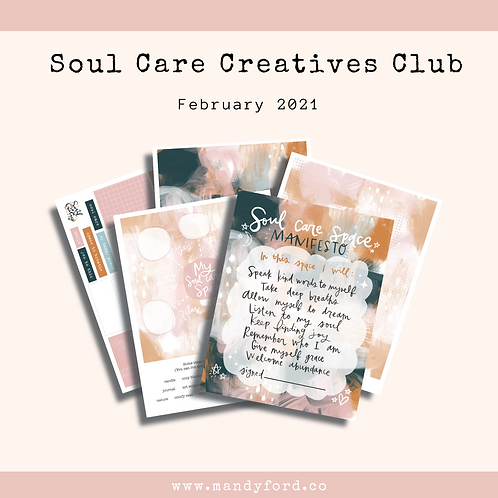 February 2021 Soul Care Creatives Club