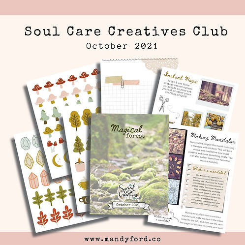 October 2021 Soul Care Creatives Club