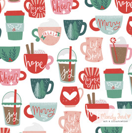 Cuppa Christmas pattern