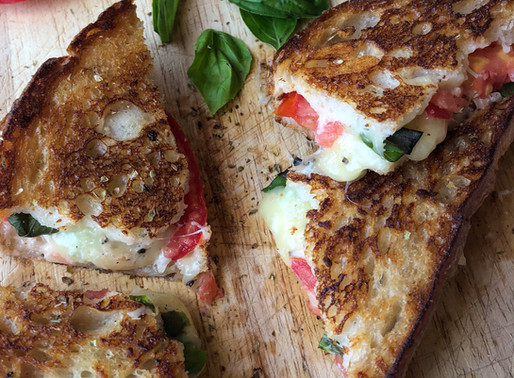 TOMATO, BASIL & MOZZARELLA GRILLED CHEESE