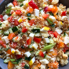 TOASTED COUSCOUS SALAD WITH LEMON & BELL PEPPER