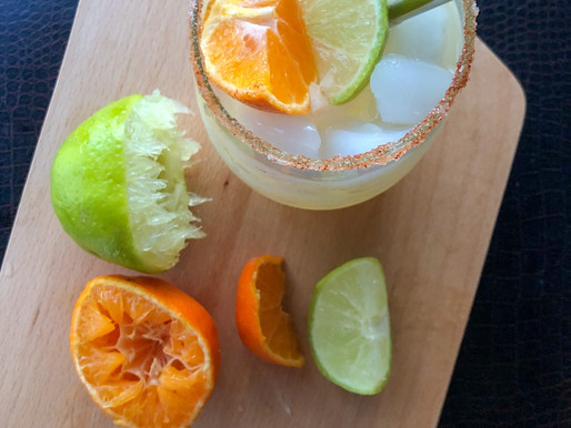 HOT HONEY & MANDARIN MARGARITA WITH SWEET-FIRE RIM