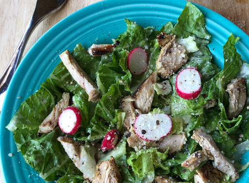ZA'ATAR GRILLED CHICKEN & RADISH CAESAR SALAD