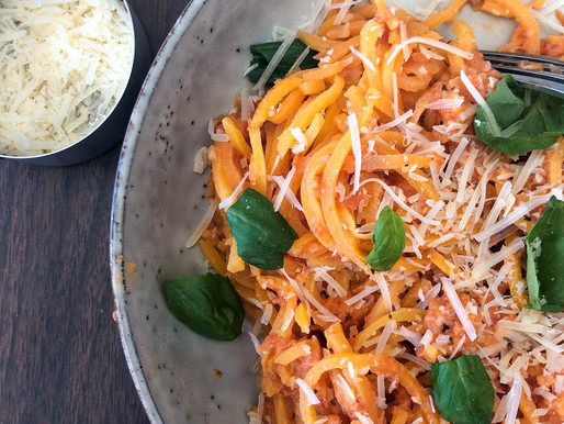 VEGGIE SPIRAL SPAGHETTI WITH VODKA SAUCE