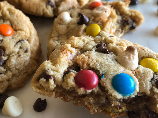 ALMOND BUTTER TRIPLE CHIP MONSTER COOKIES