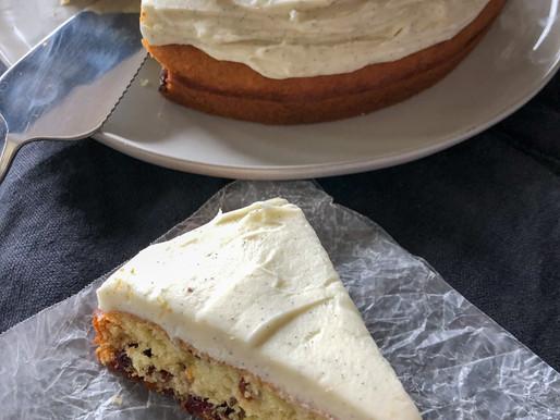 CRANBERRY YOGURT CAKE + DOUBLE VANILLA BEAN BUTTERCREAM