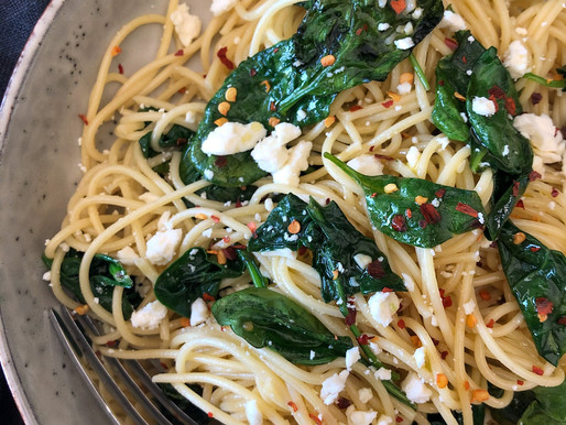 WILTED SPINACH PASTA