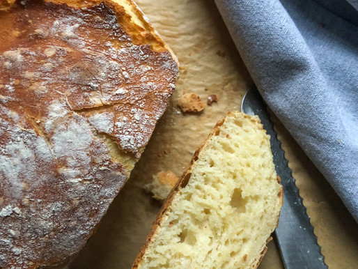 MILK & HONEY MOON BREAD      (NO-KNEAD BREAD)