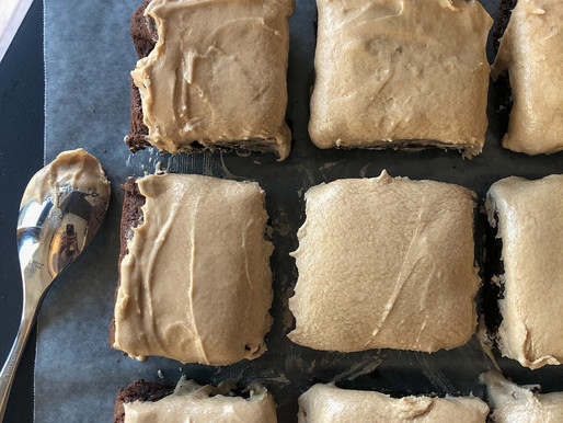 GUINNESS BROWNIES WITH GUINNESS ICING