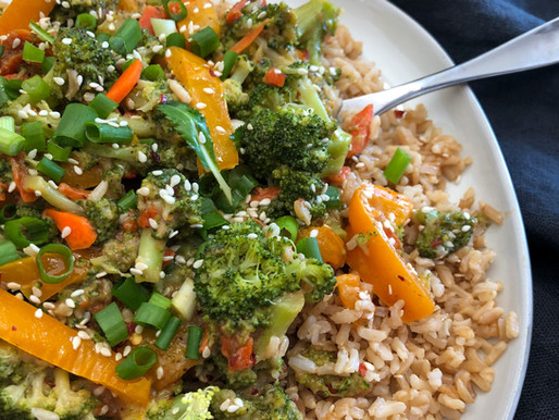 SPICY PEANUT BUTTER STIR FRY