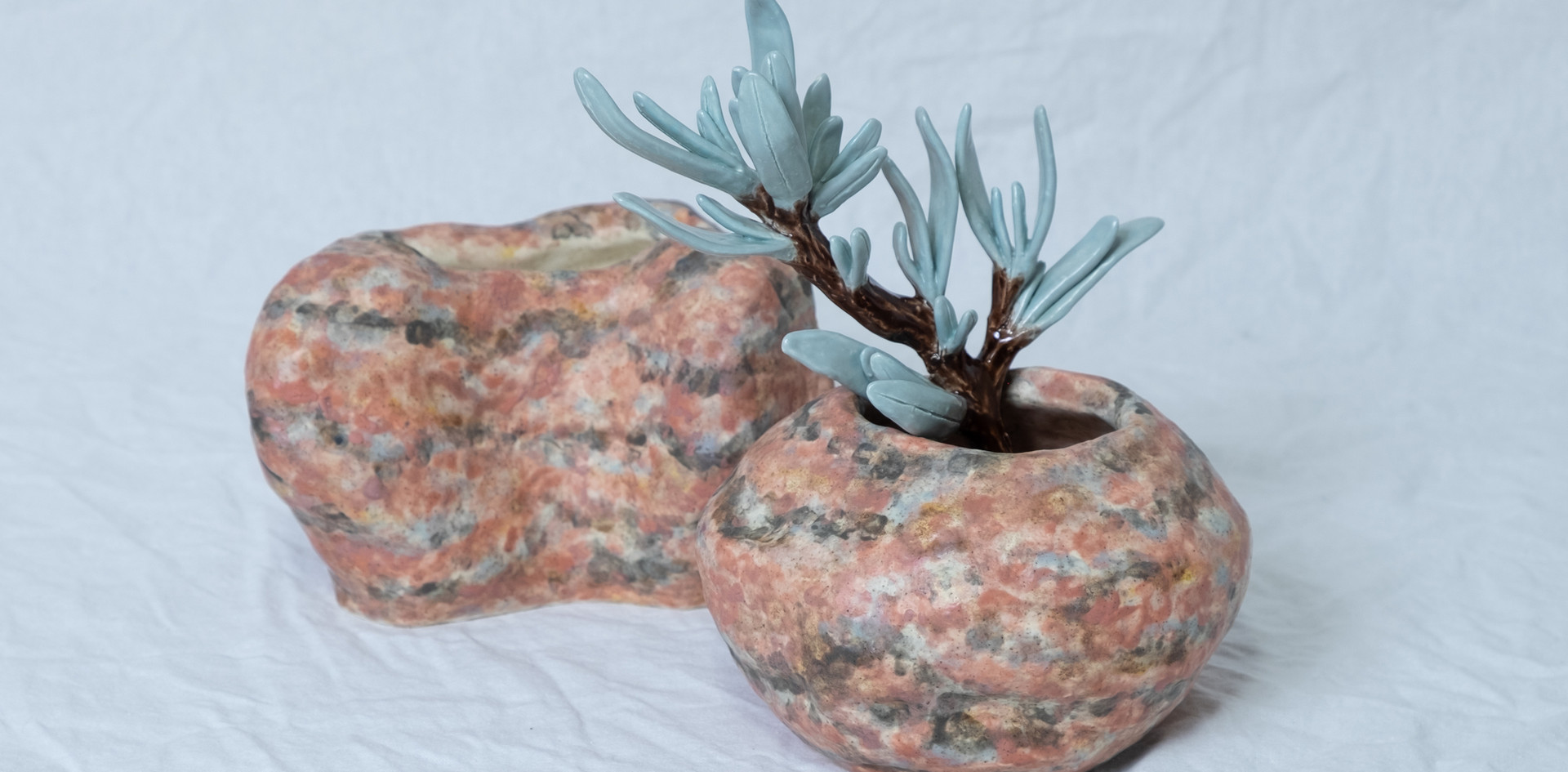 Sage and Rose Granite Vases