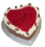 Heart shaped Gateaux, baked to order.