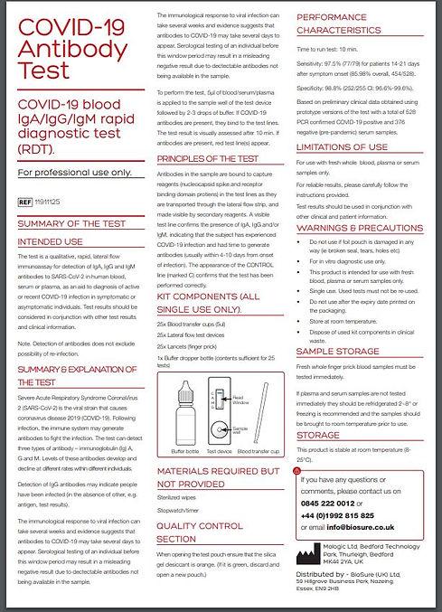 COVID -19 Antibody Test Page 1