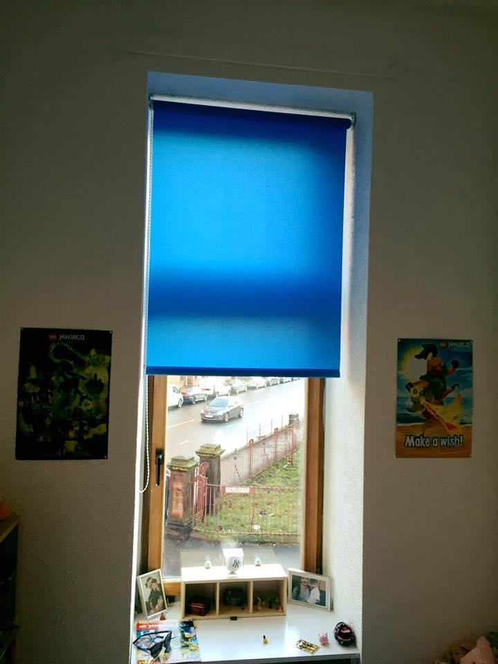 Blue roller Blind