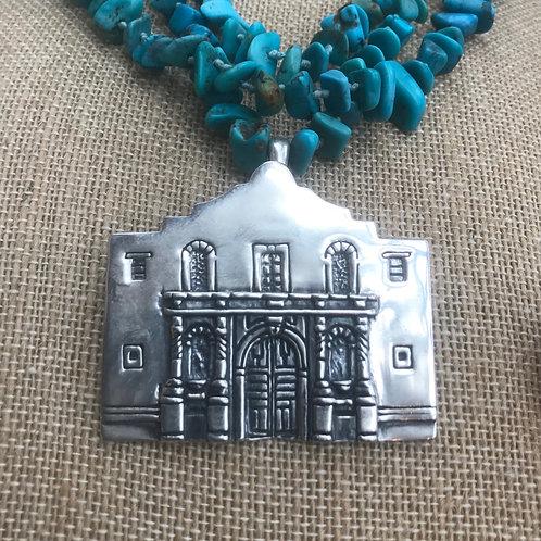 Large SS Alamo Pendant and Pin