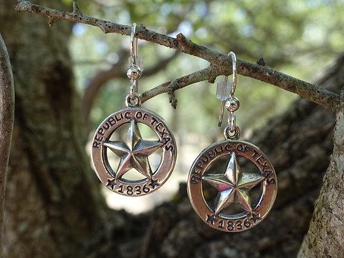 Republic of Texas Star Earrings