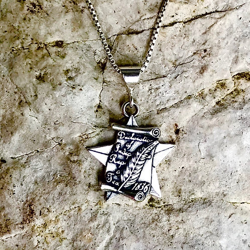 Tx Declaration of Independence Pendant