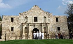 R V Alamo Front at distance