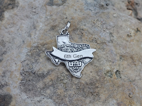 Personalized Texas Charm w/ Generation Number