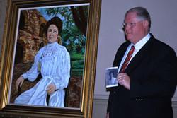 De Zavala Portrait with artist, Stuart S