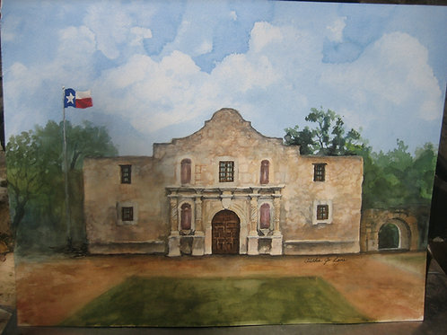 Patriotic Alamo Artwork